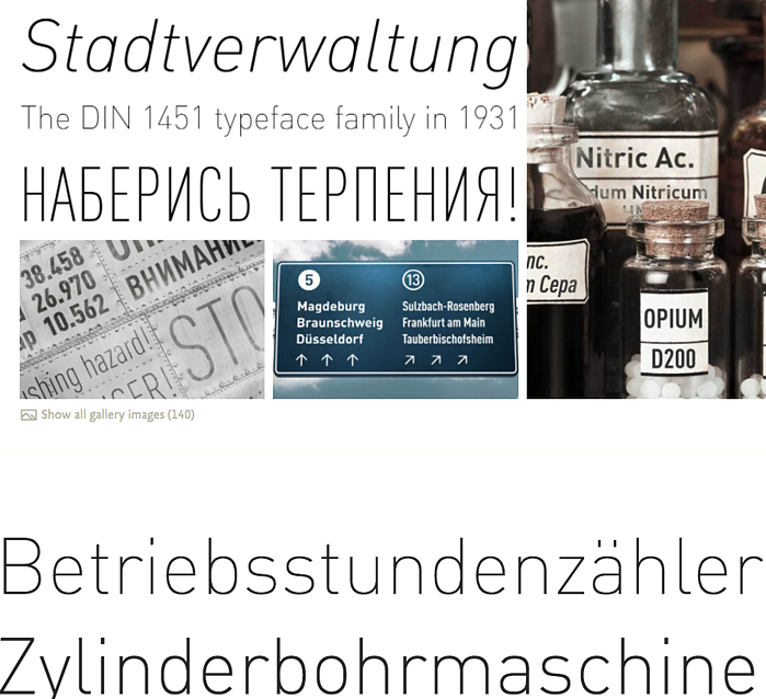 Example of modern typography from Font Shop